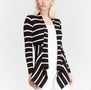 Carmen Mark Valvo Open Front Cardigan